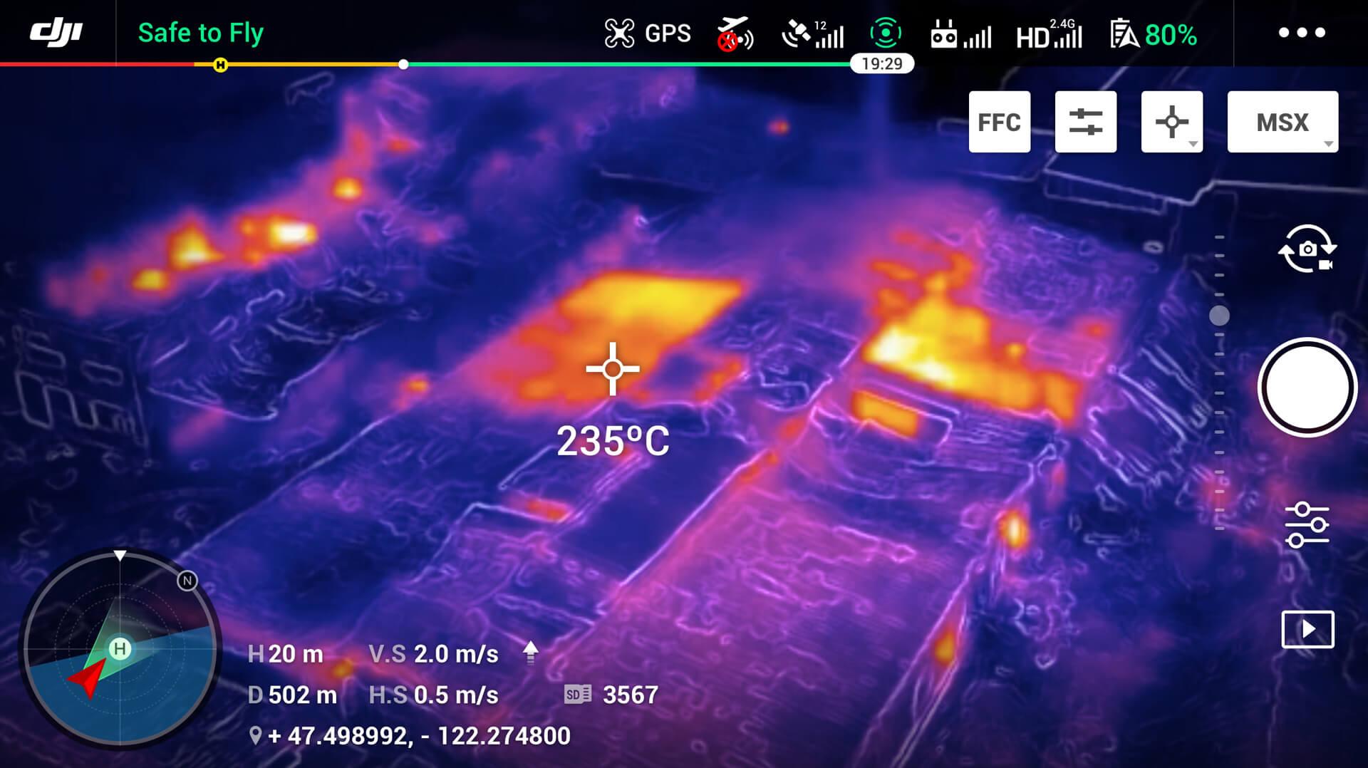 FLIR warmtebeeld afbeelding