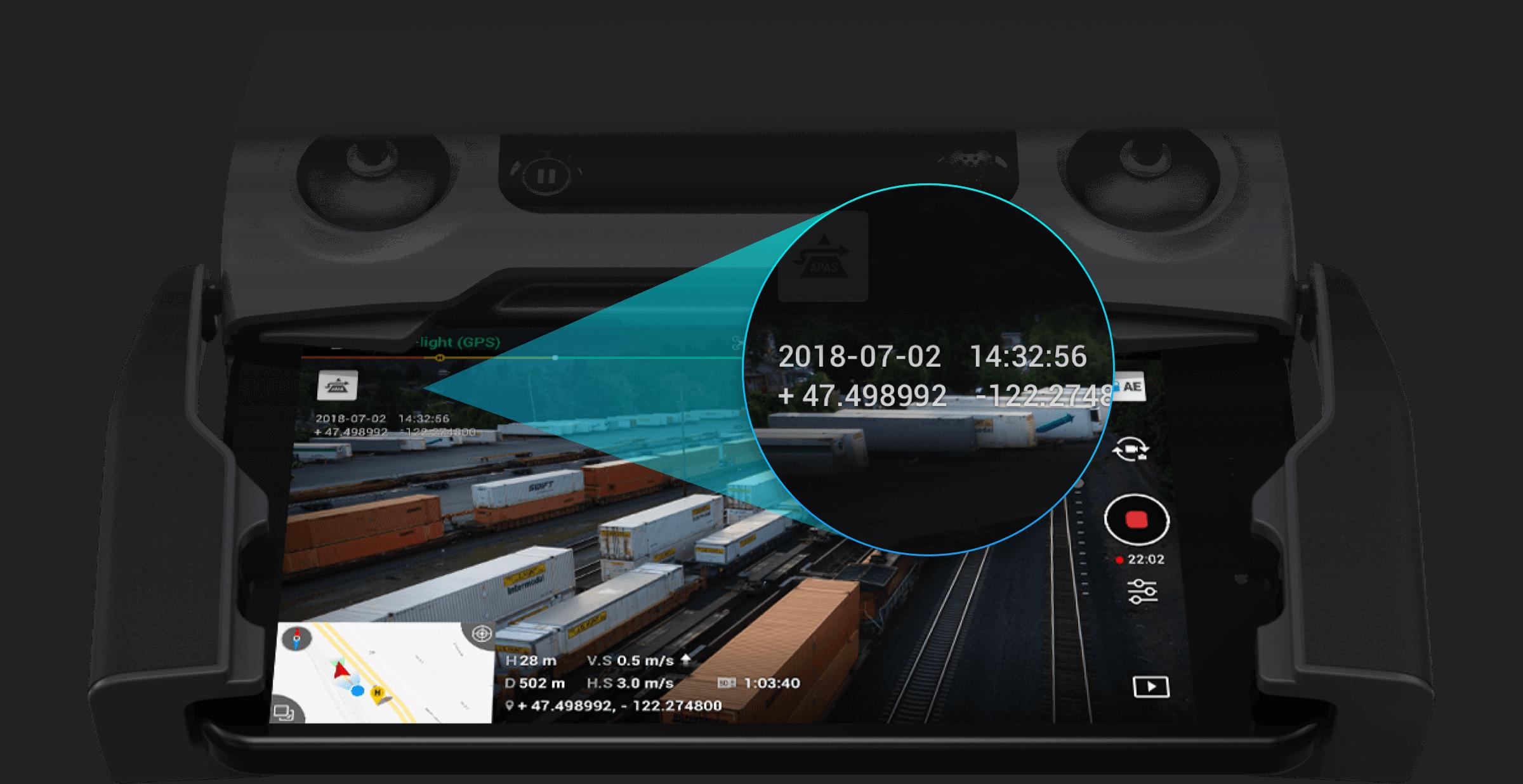 Mavic 2 Enterprise GPS timestamping records